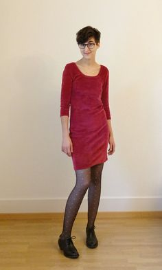 Nettie dress in stretch velvet by @miushkamiushka