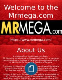 Welcome to the Mrmega.com Best Casino Games, Online Casino, Online Games, Welcome