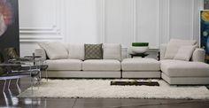 白色沙發,凸顯簡約的氣質。