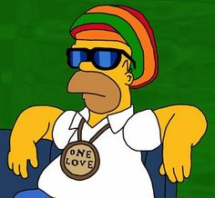 Love me some reggae and love me some Homer Simpson