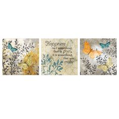 10 X 30-in Happy Nature Accent Art- Set of 3