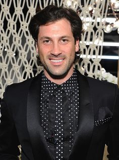 Tony Dovolani and Maksim Chmerkovskiy attend the launch of Cantamessa Man with Maksim Chmerkovskiy at the Closet by Sharon Segal and Nina Segal at The Promenade at Westlake on October 8, 2015 in Westlake Village, California.