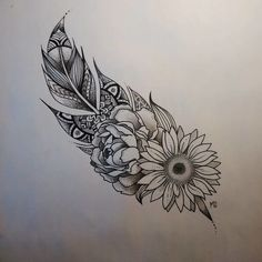 Bonus: Feathers and Flowers and All the Pretty Things! - 31 of the Prettiest Mandala Tattoos on Pinterest - Photos
