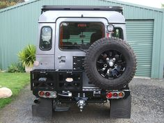 Yes, at last a sensible rear wheel holder. No need for the jerry cans though.