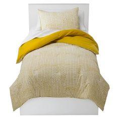 Room Essentials® Stitch Comforter Set - Yellow