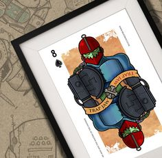Trap Jaw He-Man Playing Card Print A4 by BeastBoxDesigns on Etsy