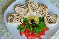 рулет из лаваша с курицей и грибами: рецепт