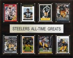 """Pittsburgh Steelers Plaque - All Time Greats 12""""x15"""""""