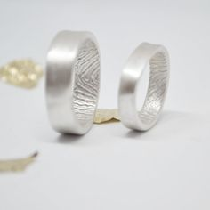 Each ring is a hand crafted one of a kind, personalised work of art. Made exclusively for you with your unique fingerprint. It's like your loved one just touched
