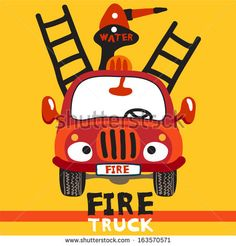 Cartoon Fire Truck for babies