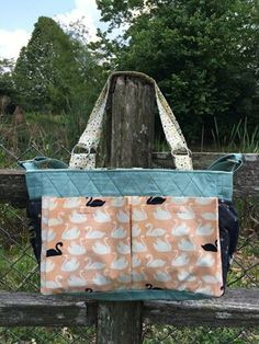"""Kristi McDonough from Schnitzel & Boo shows you how to make this handy tote for all of your """"essentials."""" It works for busy parents, and it's a handy bag for just about everyone with errands to run an"""