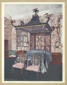 The Chippendale Chinese room at Badminton House. Property of the Duke of Beaufort, ca. 1755. (1910-1911)