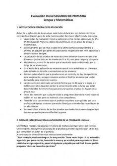 Recopilación de Evaluaciones Iniciales Primer Ciclo Primaria + Registros, por Orientación Andujar.