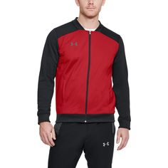 Durable knit fabric is light, tough & breathable Material wicks sweat & dries really fast Classic bomber-inspired cuffs, collar & hem Secure hand pockets Mens Double Breasted Blazer, Soccer Gear, Running Shops, English Men, Underwear Shop, Bra Shop, Kids Shorts, Under Armour Men, Girls Shopping
