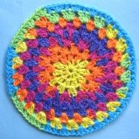 Crochet Mandala Wheel made by Sam, Denbighshire, UK for yarndale.co.uk