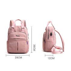 Zainetto da donna/uomo ricarica usb, materiale nylon impermeabile 😉myalleshop #myalleshop Sling Backpack, Leather Backpack, New Bag, School Backpacks, Usb, Shoulder Bag, Handbags, Ebay, Travel Office