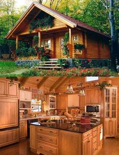 Log Home Decorating Simply amazing decor ideas to create that dream rustic feel log home decor ideas diy Tip number pinned on 20181202 Log Cabin Living, Small Log Cabin, Log Cabin Homes, Cabins In The Woods, House In The Woods, Cabin Plans, House Plans, Casas Country, Log Home Decorating