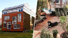 De nos jours, de plus en plus d'habitats alternatifs, durables et quasi-autonomes trouvent leur place dans les paysages urbains. Grâce à eux, les architectes à l'origine de ces projets nous prouvent chaque fois un peu plus qu'une transition vers ce mode de vie est tout à fait possible et enviable. Depuis juin 2015, et pour une durée de trois ans, la famille Scholten a ainsi eu la chance de pouvoir«tester» l'une de ces maisons, grâce à un programme instauré par l'Université de Rotterdam… Rotterdam, Netherlands, Ainsi, Place, Habitats, Construction, House, Sweet, Urban Landscape