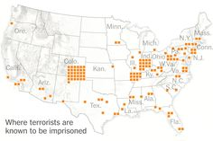 Far more convicted terrorists are being held in federal prisons in the United States than in Guantánamo Bay, Cuba.