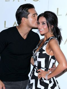 Mario Lopez and Courtney Mazzas date night