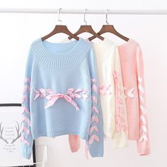 Cute Lase Bow Pullover Sweater SD02034