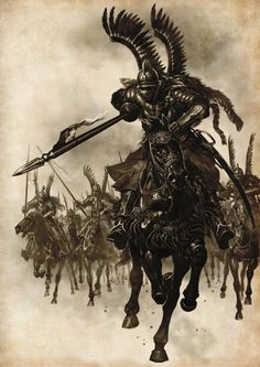 Polish King Jan III Sobieski and his Winged Hussars defeat the Ottoman Empire with the largest cavalry charge in history Military Art, Military History, Polish Tattoos, Poland History, Landsknecht, Knights Templar, Twilight Princess, Dark Ages, Middle Ages