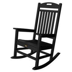 Trex Outdoor Furniture Yacht Club Charcoal Black Plastic Patio Rocking