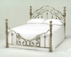 Harmony Florence Brass - double bed frame only - Antique Brass and headboard Bed Frame, French Style Bed, Girls Loft Bed, Bed Frame Mattress, Bed, Furniture, Bed Styling, Brass Bed Frame, Single Bed Frame