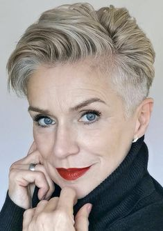 Short Grey Haircuts, Edgy Haircuts, Short Hairstyles For Women, Short Undercut Hairstyles, Pixie Haircuts, Pixie Cut Styles, Short Hair Styles, Grey Hair Styles For Women, Pixie Cuts