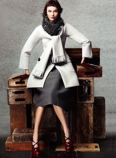 I die!    Karlie Kloss wearing Marc Jacobs FW12 for Vogue
