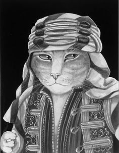 Rudolf Valentino, The Sheik by Susan Herbert from Movie Cats