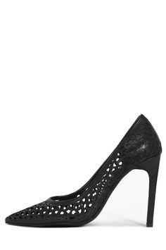 Jeffrey Campbell Shoes DULCE Heels in Black Heart Punch