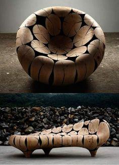 Креативные стулья из дерева своими руками.