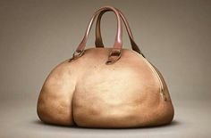 """A plush-bottomed butt purse. The front looks like a big belly complete with belly button"" Who wouldn't want this?"