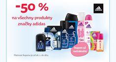 - 50 % na všechny produkty značky adidas