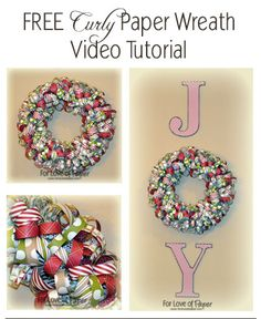 Free-Curly-Paper-Wreath-Video-Tutorial