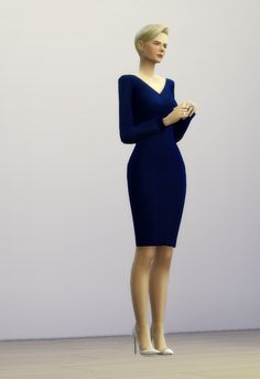 Sims 4 CC's - The Best: Chiffon Dress by Rusty Nail