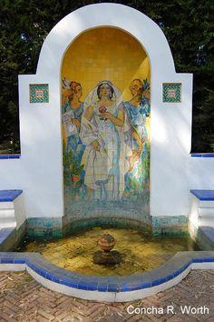 Glorieta de Ofelia Nieto en el parque de Mª Luisa. Fotografía de Concha y Javier: Sevilla insólita