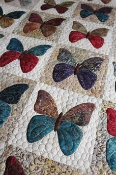 Our guild is having a retreat this coming weekend so I am getting a few project ready to take.   I loved the  Butterflies  quilt pattern by...