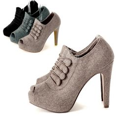 Sexy Lady Platform Peep Toe High Heel Ankle Boots Shoes