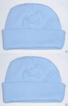 a535a5eadf3 Hats 163224  6 New Infant Baby Rib Knit Newborn Beanie Cap Rabbit Skins  Blue 4451 Bl