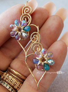 Wire Jewelry Tutorial  - Beginner - Charming Hearts 2 Earrings - Instant Downloadable PDF File via Etsy