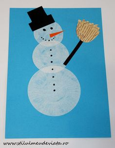 Om de zăpadă din hârtie pentru brioșe Preschool, Kid Garden, Kindergarten, Preschools, Kindergarten Center Management