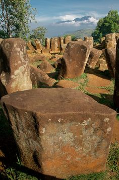 Cianjur Megalithic site. Its the largest megalithic site in South-Eastern Asia. locate at cianjur west java Indonesia