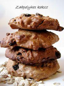 Mézes finomságok...: Zabpelyhes keksz Goodies, Sweets, Chocolate, Healthy, Desserts, Food, Cakes, Diets, Kitchens