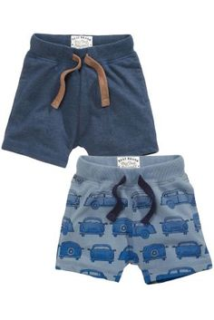 Buy Blue Car Shorts Two Pack (3mths-6yrs) online today at Next: Hungary