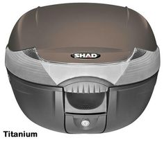 """Shad SH-33 motorcycle top case in titanium. Designed to attach to most flat luggage racks. Its dimensions are: 16.5"""" L x 16.9"""" W x 12.2"""" H  and has a 33 liter capacity. Your price is $134.95. With Free Shipping."""