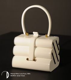 Wilardy White Lucite Purse, 1950's. Source: Sandy Littman's Closet.