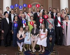 Meet the Scandis! Members of the Swedish and Norweigan royal households who will host the ...