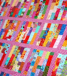 2.5 scrap buster, queen size .:!:. The Q and the U by Riel Nason: Not a Wink Quilt for Bloggers Quilt Festival